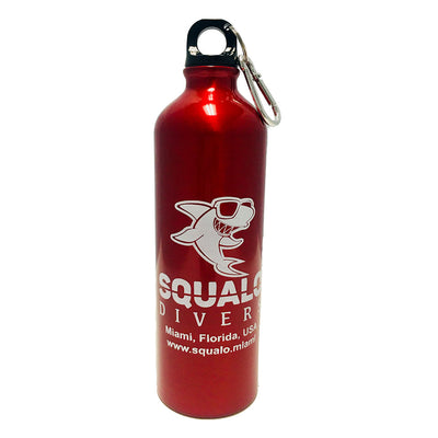 Squalo Divers Aluminum Water Bottle 25 oz Red