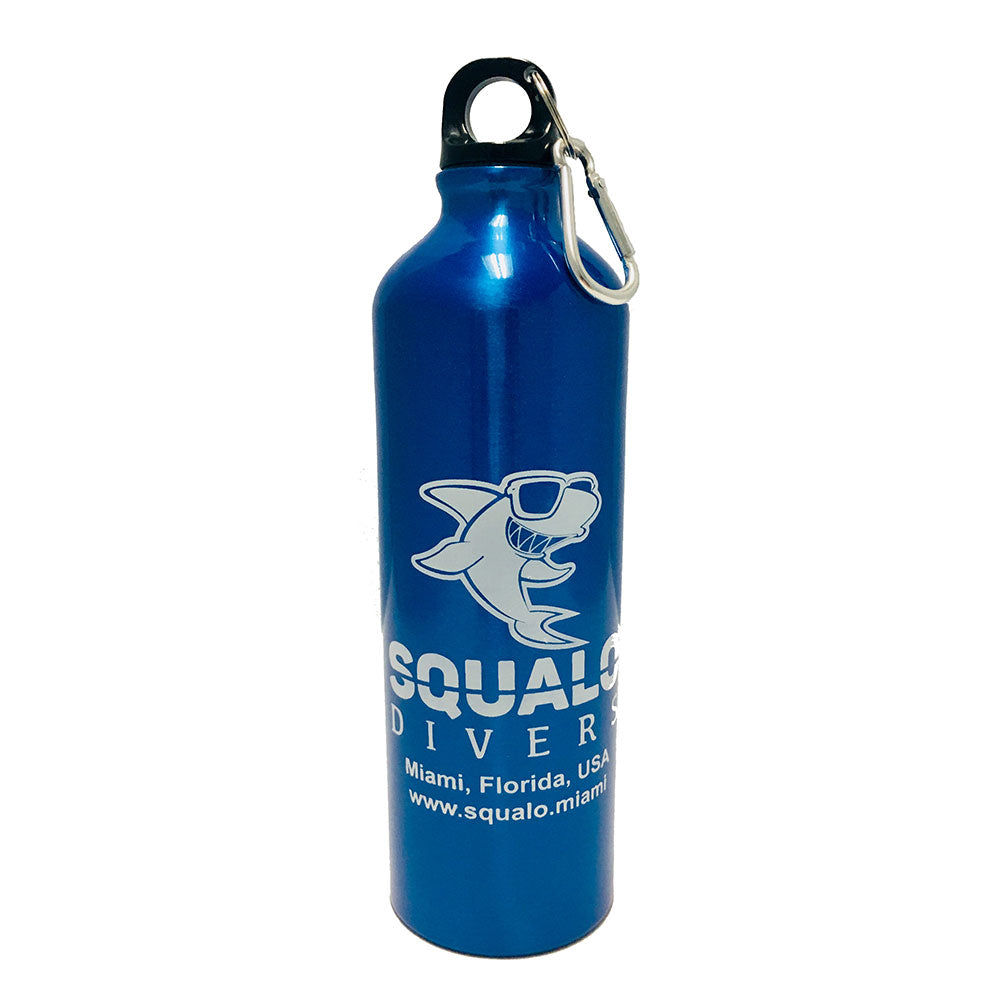 Squalo Divers Aluminum Water Bottle 25 oz Blue