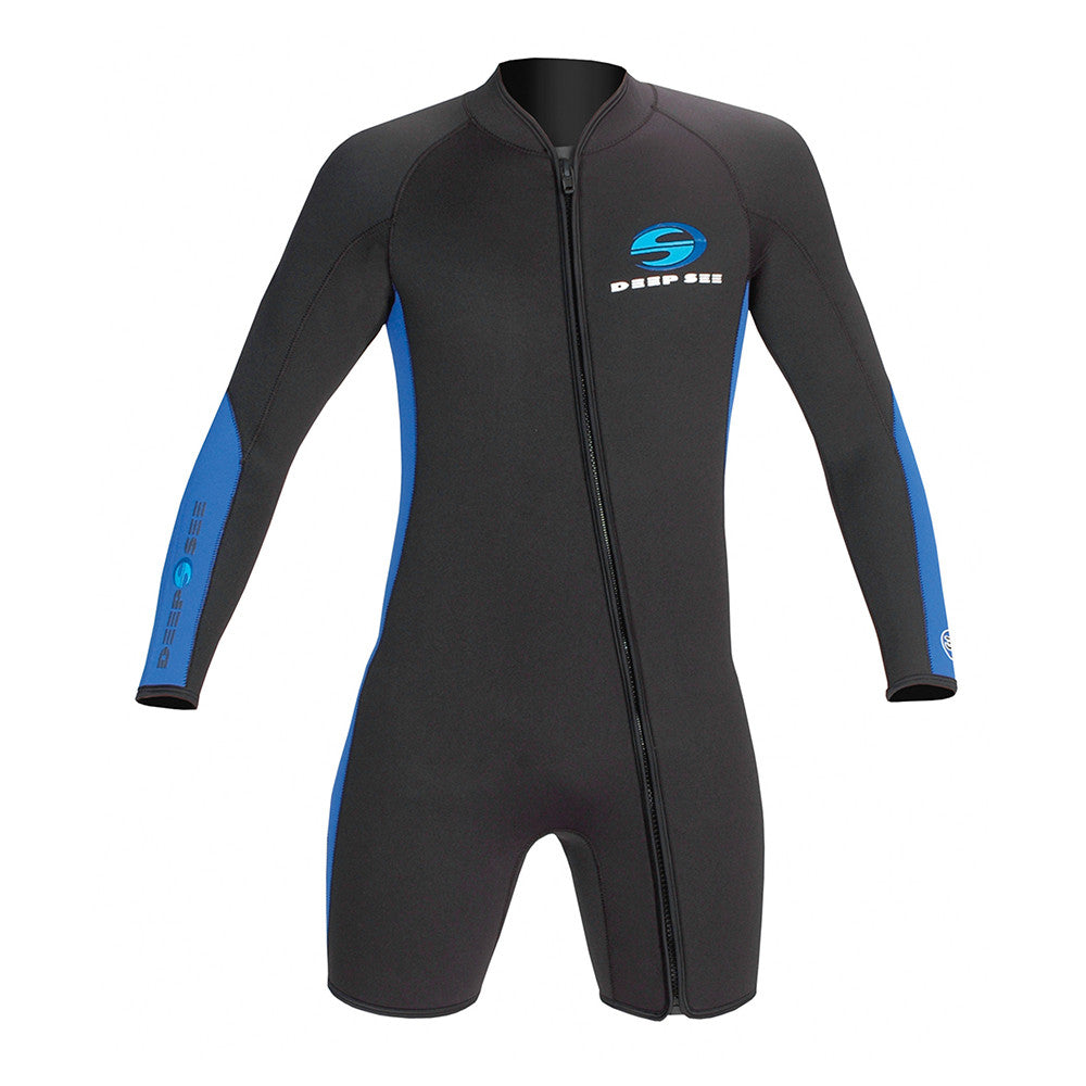 Deep See Long Sleeve Shorty 3mm Wetsuit Men - Scuba Diving In Miami c26524d06