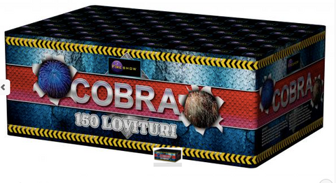 Baterie de artifici 150 focuri calibrul 25 mm  COBRA