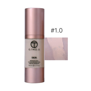 O.TWO.O Make Up Foundation Beauty Waterproof Flawless Coverage Base Cosmetics Liquid Foundation Cream Makeup Primer