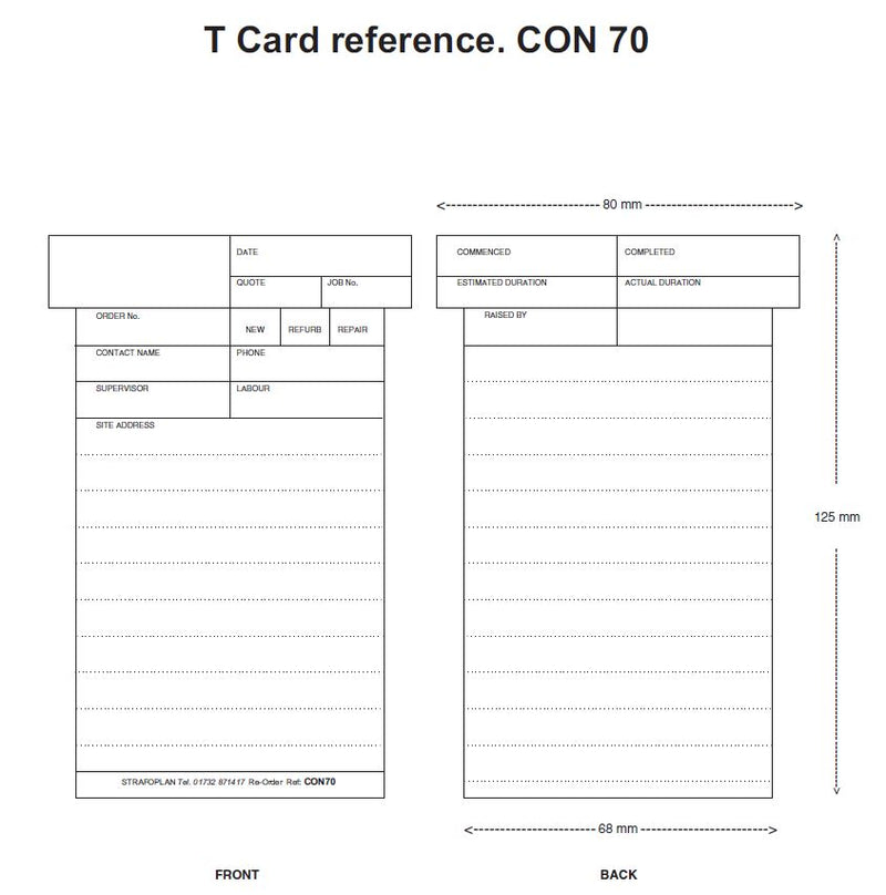 Construction T Card Size 70