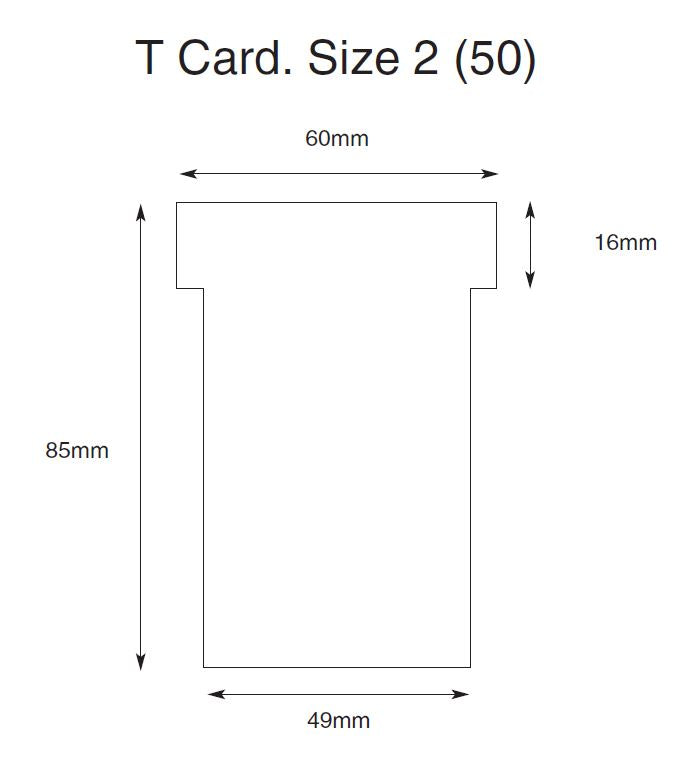 Size 2 T Cards