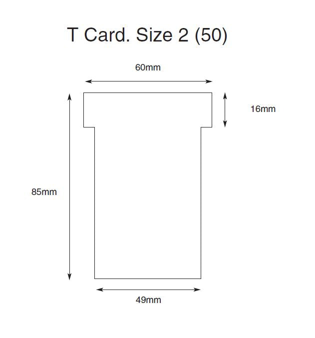 T Cards (Plastic) Size 2