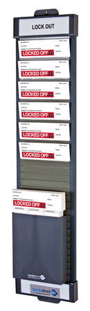 LockOff  T Card Board with Storage Bin