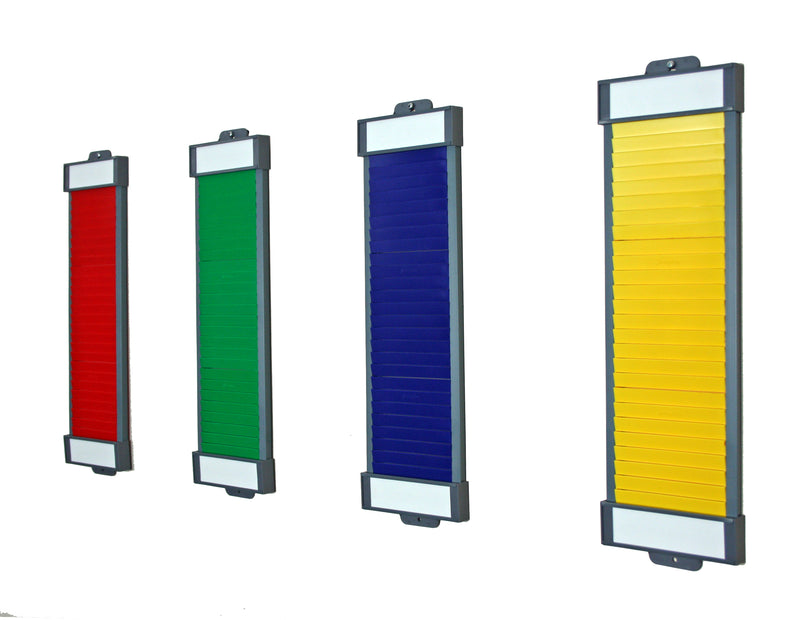 Coloured T Card Columns Seperate
