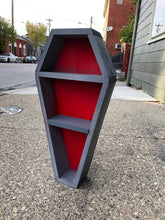 Load image into Gallery viewer, Joe's Grey On Red Coffin Shelf