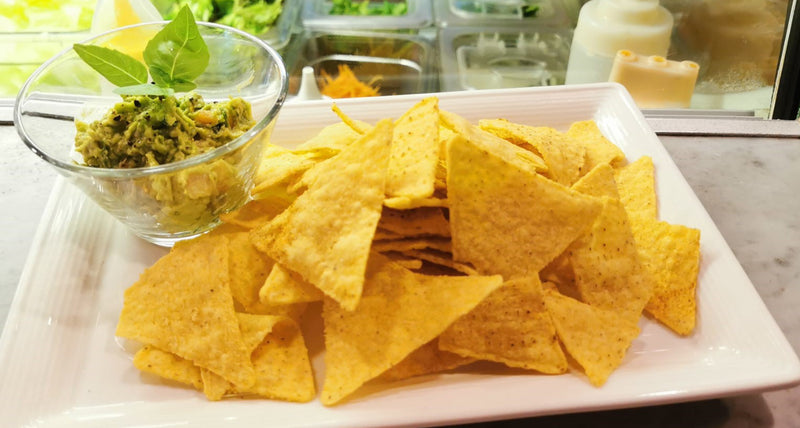 Nacho Chips with Freshly Made Guacamole