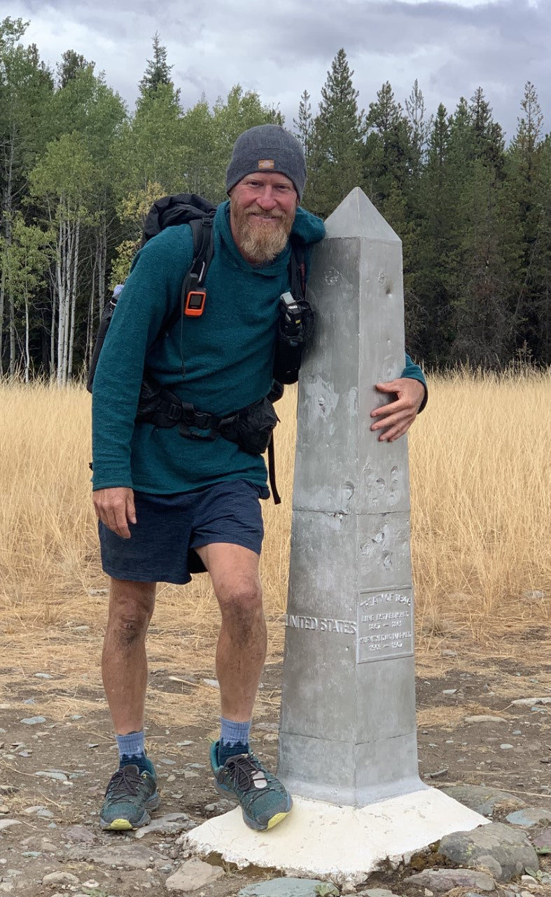 Ben at the northern terminus of the Continental Divide Trail