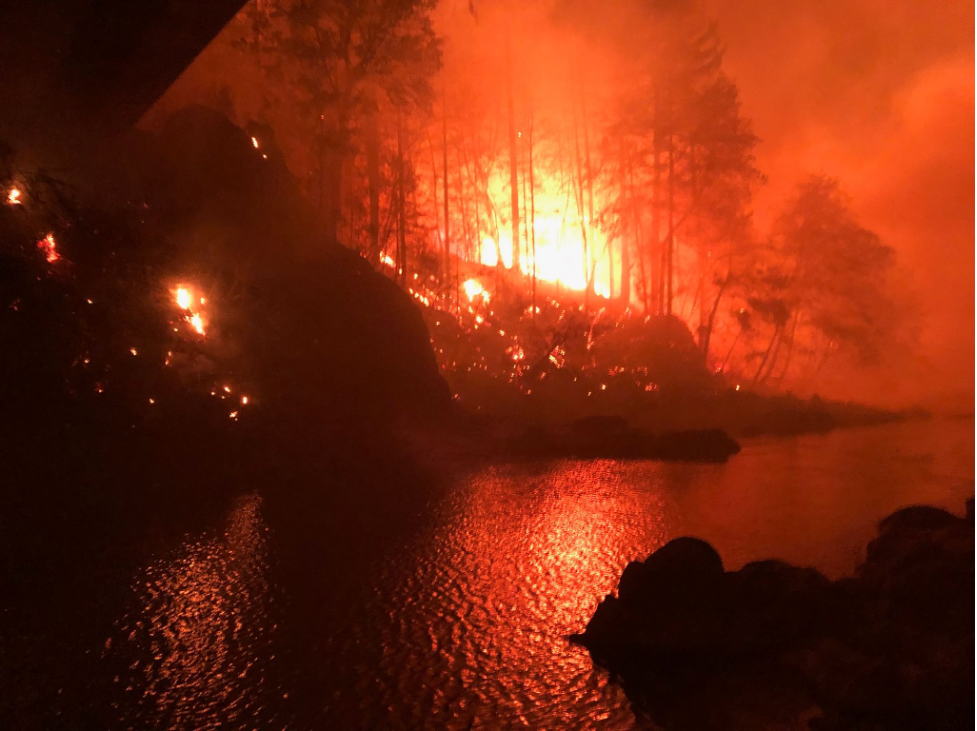 Beachie Creek Fire (taken by one of my family's neighbors)