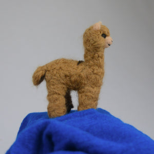 Needle-Felt Alpaca Ornament