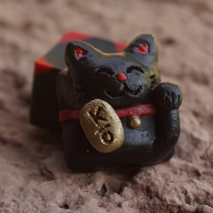 Lucky Cat - Maneki (Black) MX