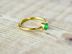 Green Onyx Ring, Gemstone Ring, Onyx Gold Ring, Onyx Jewelry, Boho Jewelry Handmade, Green Stone Ring, Mothers Day Gift