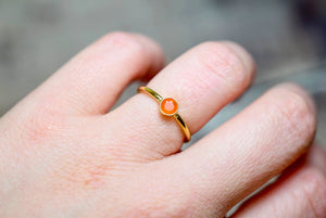 Carnelian Ring in Gold Fill