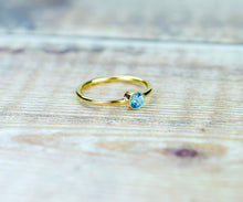 Load image into Gallery viewer, Swiss Blue Topaz Ring in Gold Fill