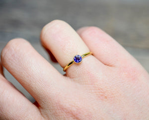 Iolite Gold Ring in Gold Fill