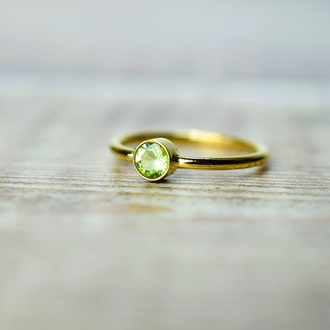 Peridot Ring in Gold Fill