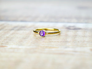 Amethyst Ring in Gold Fill