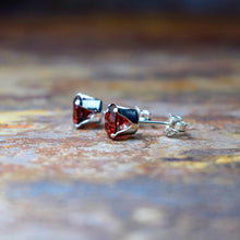 Load image into Gallery viewer, Mozambique Garnet Stud Earrings