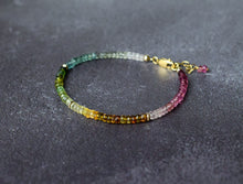 Load image into Gallery viewer, Multi Colour Tourmaline Bracelet