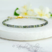 Load image into Gallery viewer, Green Sapphire Beaded Bracelet