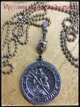 Load image into Gallery viewer, Saint Christopher Medallion With Travelers Prayer Inside