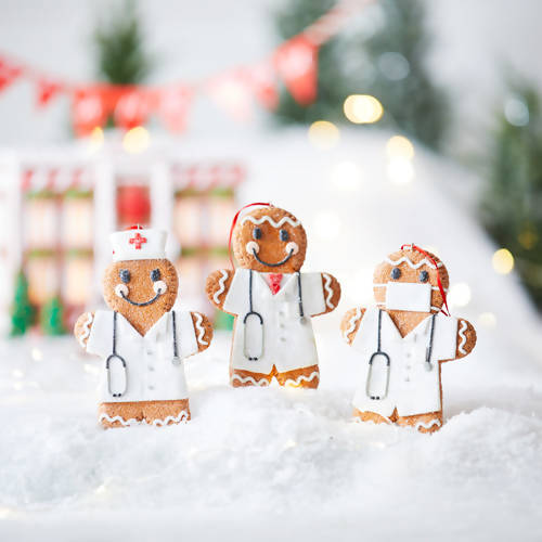 NURSE AND DOCTOR GINGERBREAD ORNAMENTS
