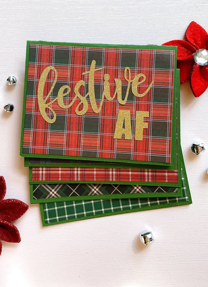 Festive AF Holiday Cards, Set of 5
