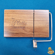 Load image into Gallery viewer, Wooden Cheese Slicer with Custom Engraving