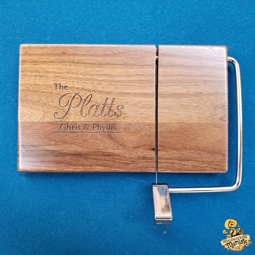 Wooden Cheese Slicer with Custom Engraving