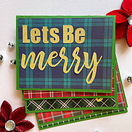 Let's Be Merry Holiday Cards, Set of 5