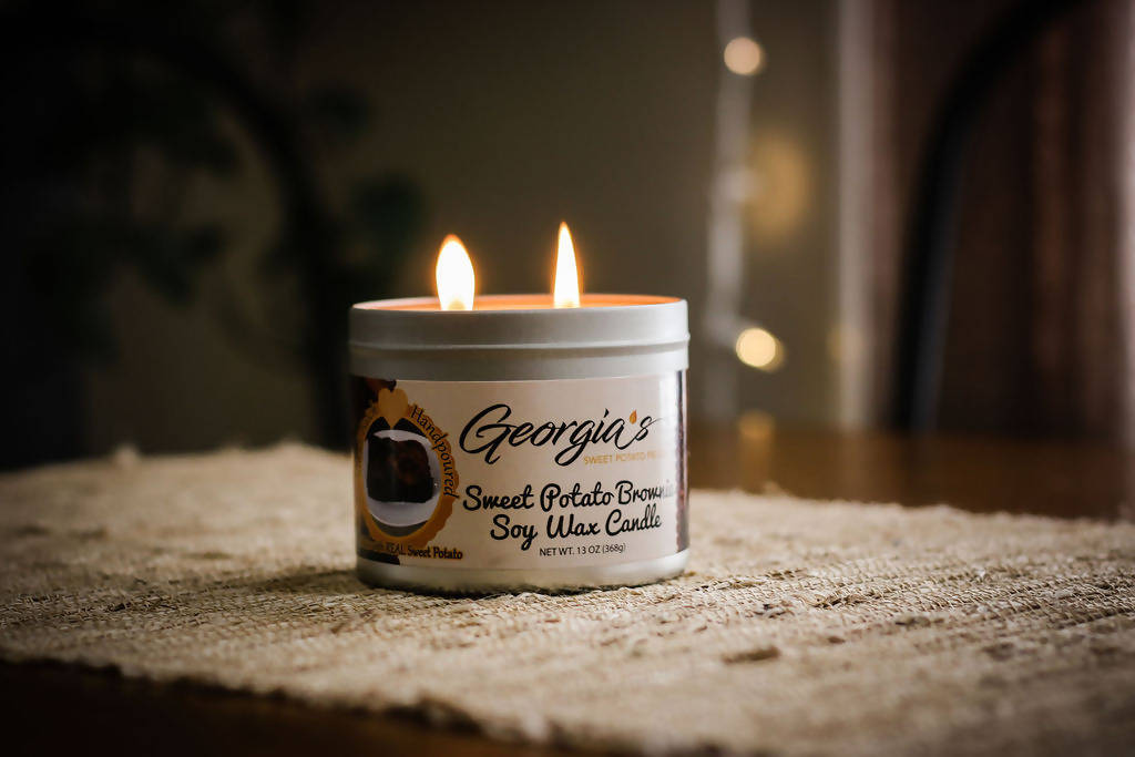 Sweet Potato Brownie Scented Soy Candle