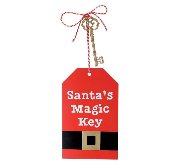 SANTA'S MAGIC KEY TAG SHAPED ORNAMENT