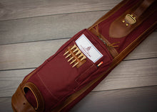 Load image into Gallery viewer, The Original Steurer & Jacoby Pencil Style Golf Bag- Maroon & Chestnut Leather Trim
