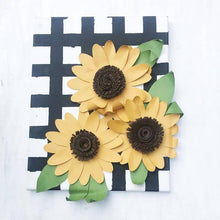 Load image into Gallery viewer, Paper Sunflowers Wall Decor