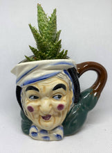 "Load image into Gallery viewer, Antique ""Toby"" mug with Succulent"
