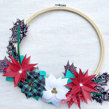 Load image into Gallery viewer, Holiday Flowers Paper Wreath #3