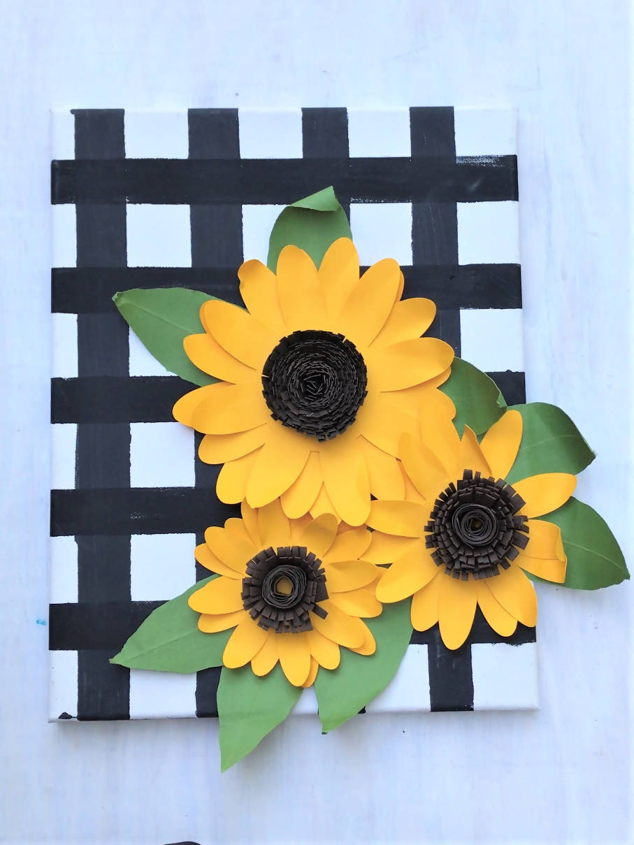 Paper Sunflowers Wall Decor