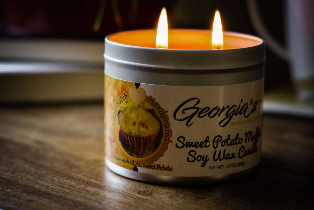 Sweet Potato Muffin Scented Candle Soy Candle