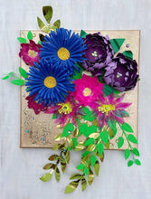 Load image into Gallery viewer, Glam Paper Flower Wall Art #1