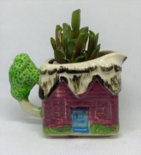 Load image into Gallery viewer, Antique House creamer with Succulent