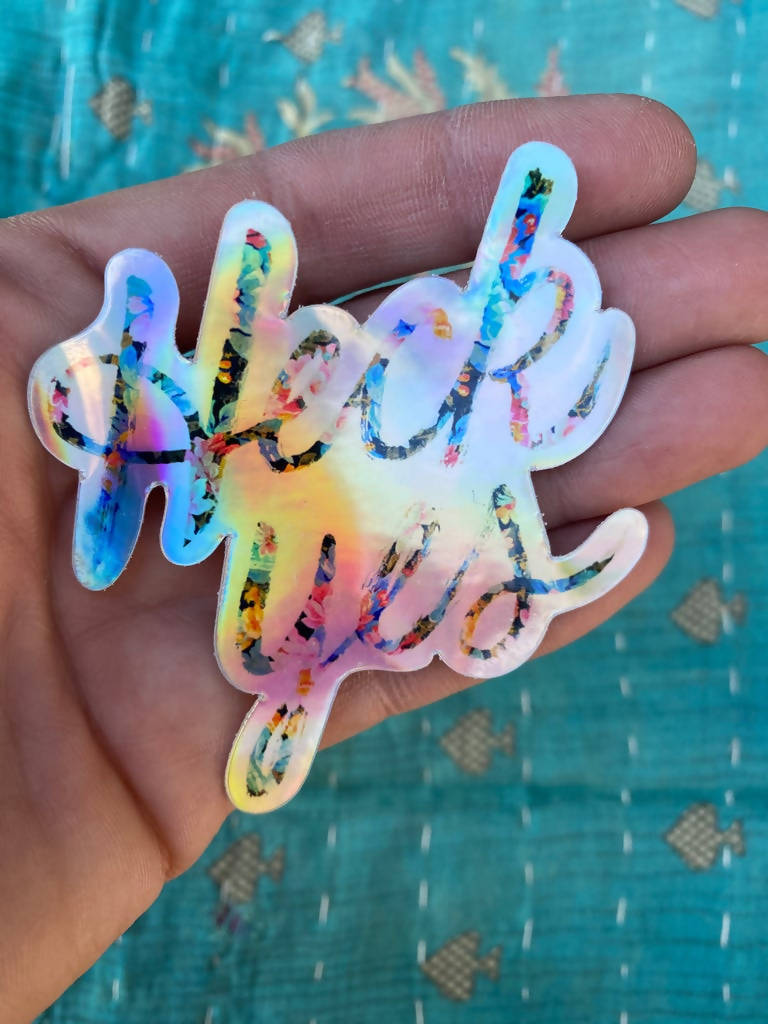 Heck Yes Sticker - Large Hologram