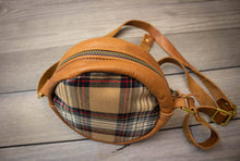 Load image into Gallery viewer, Leather & Tartan Halo Purse- Stewart Camel Modern