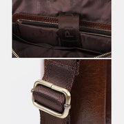 Genuine Leather Large Capacity Retro Briefcase
