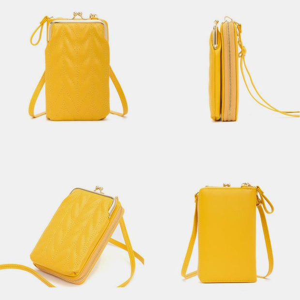 Large Capacity Solid Color Mobile Phone Bag