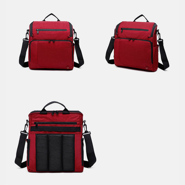 Large Capacity Multi-Compartment Square Crossbody Bag