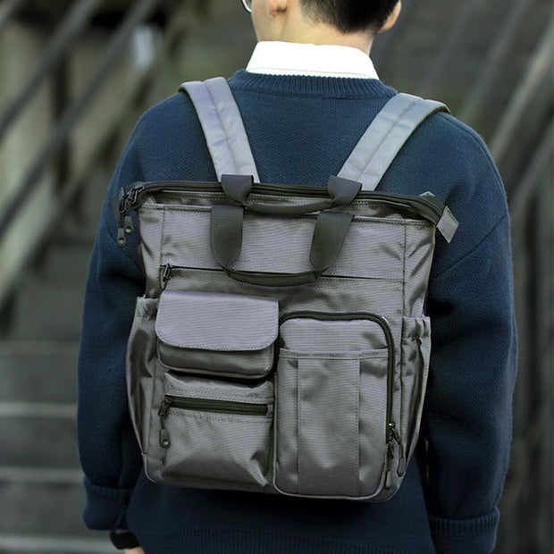 Multifunctional Water-resistant Scalable Handbag-Backpack