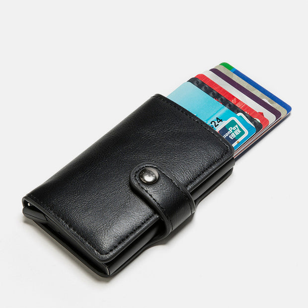 RFID Blocking Anti-Theft Wallet With Metal Card Case