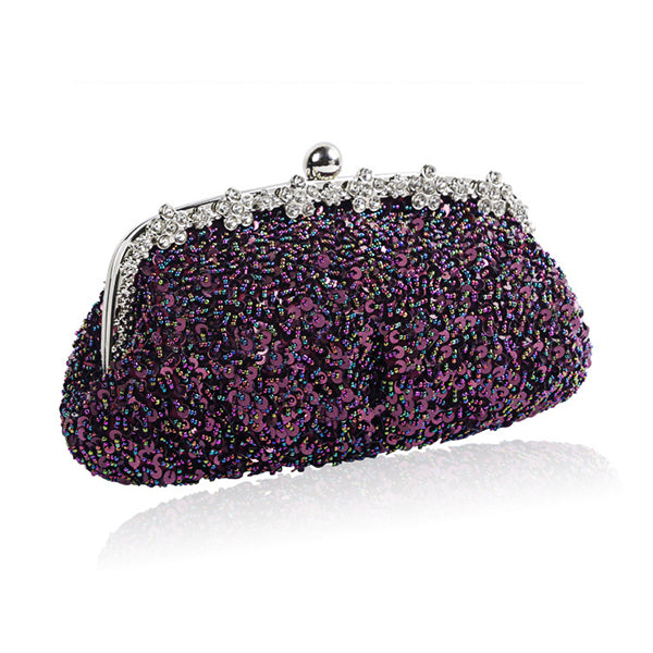 Sequin Retro Clutch Party Handbag
