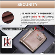 Genuine Leather Capacity Leather RFID Anti Theft Leather Wallet